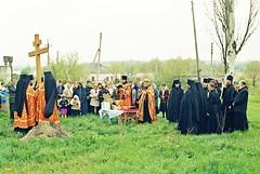 104. Закладка храма вмч. Георгия в с. Долина 2005 г