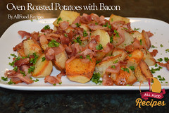 Oven Roasted Potatoes with Bacon (Thinkarete) Tags: red food white hot green home cooking yellow horizontal closeup dinner tomato studio lunch cuisine golden leaf bacon potatoes healthy pieces with shot dish oven sauce background side rustic style tasty plate broccoli vegetable fresh roast gourmet delicious lettuce potato fries american slice snack meal oil garlic appetizer organic sliced parsley simple fried plain herb fare topview staple baked roasted nutrition prepared wedges downhome spiced hausmannskost