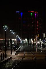 Start Otel (Melissa Maples) Tags: park black sign night turkey hotel nikon asia streetlamps text trkiye tracks antalya lamps nikkor tramway vr afs  18200mm  f3556g  18200mmf3556g ismetinn kentmeydan d5100 startotel