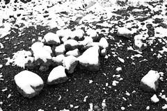 Piedras glaseadas (Lograi) Tags: barcelona blackandwhite bw espaa snow byn blancoynegro stone geotagged blackwhite spain nikon nieve catalonia bn catalunya catalua piedra sabadell espanya nikond40 geoetiquetada