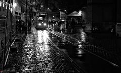 The Hagie - Holland. Rain (Jan Bierens) Tags: desktop urban blackandwhite bw black streetphotography streetlife denhaag straat straatfotografie streetphotographyblackandwhite d5100 darktable