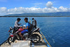 Boat to the Togian Islands (-AX-) Tags: mer indonesia moto bateau personnes ampana togeanislands sulawesitengahcentralsulawesi