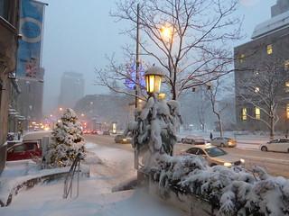 Montreal Dans la Neige/ A Snowy Day in Montreal