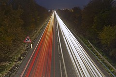 Light trails on a busy  road. (foto.pro) Tags: light cars dark ed traffic dusk trails lorries whitea483a5