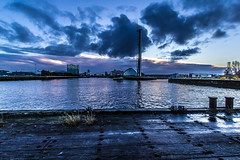 (ianmiddleton1) Tags: autumn water docks sunrise canon river scotland glasgow hdr sigma1020mm