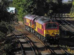 67026 + 66058 Eastleigh 15-08-11 (Solebar Photography) Tags: uk rail dbs eastleigh ews 67026 66058