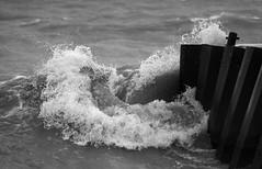 Water Wrap (peterkelly) Tags: bw ontario canada storm water digital pier waves wave stormy greatlakes northamerica lakehuron bayfield crashing