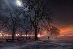 Sky on fire (@hipydeus) Tags: moon fog germany timelapse sylvester newyearseve 2015