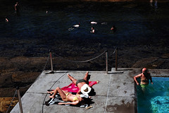 . (ferriswhiskey) Tags: street light shadow summer colour beach swimming 35mm sydney streetphotography australia snorkling fujifilm xpro1 ferriswhiskey