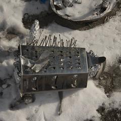 Nkisi Nkonde (grater) (slightheadache) Tags: nyc newyorkcity winter newyork brooklyn found nail nails grater snowyday cheesegrater 2015 nkisinkonde