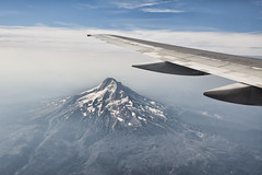 Mt Hood (Thankful!) Tags: mountain oregon volcano aerialview mthood pnw mounthood windowseat