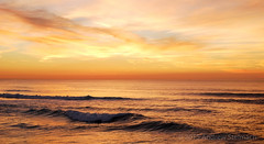 Seascape Sunset (Andrew Stelmach) Tags: ocean sunset sea portugal beautiful landscape europe surf waves colours vibrant stunning serene breakingwave breakingwaves