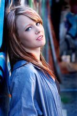 Britt (Rob Harris Photography) Tags: street portrait woman streetart girl beautiful beauty female graffiti model industrial grunge naturallight urbanart modelling
