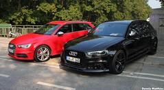 Modern Audi (Schwanzus_Longus) Tags: new red black cars car station modern race germany wagon estate hamburg german vehicle a3 hatch audi s3 combi avant kombi a6 compact hatchback advanced quattro rs6
