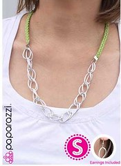Glimpse of Malibu Green Necklace K1 P2810-3