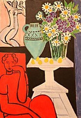 """""""Flowers of Saint Henri"""" (July 16, 1939) - Henri Matisse (1893-1983) - Art Institute of Chicago (Andre's Street Photography) Tags: woman chicago france art tourism girl museum canon painting nude eos flickr phone modernart fineart cellphone cell artinstituteofchicago matisse touristattraction 1939 henrimatisse selfie oiloncanvas greatmuseum sexting andresstreetphotography andrevanvegten ef18135mmstm artinstituteofchicago10jan2015 greatartmuseum"""