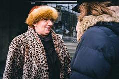(zbrka) Tags: street people color hat streetphotography streetportrait belgrade beograd colorstreet leopardfurcoat fujifilmx100