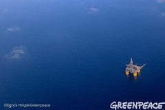 Brutus Rig (Greenpeace USA 2016) Tags: ocean usa gulfofmexico louisiana ship gulf shell greenpeace aerial oil drilling skimming fossilfuel breakfree cleanenergy portfourchon