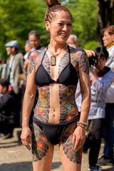 Mayumi face (Scanderrr) Tags: woman beautiful japan tattoo japanese tokyo amazing yakuza japon tatouage irezumi munewari