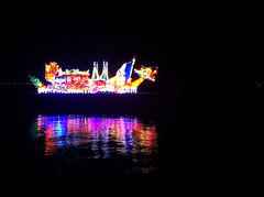 The Glowing Dragon (eternal_ag0ny) Tags: light sea color reflection water festival night dark island photography seaside colorful dragon low penang pulau singh iphone pinang karpal iphone4 pesiaran