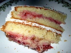 Strawberry Birthday Cake. (dccradio) Tags: cake dessert md strawberry treats maryland birthdaycake sweets mountairy frosting frosted mtairy