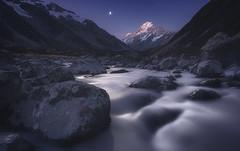Moon River - Mt Cook & Hooker Valley (Jimmy McIntyre - Editor HDR One Magazine) Tags: newzealand night river landscape exposureblending rayapro
