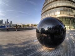 Ball, London Town Hall (neilalderney123) Tags: london ball landscape cityscape fisheye fishie samyang omympus 2016neilhoward