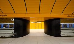 Departing (Pamela Marklew) Tags: underground subway munich mnchen ubahn marienplatz