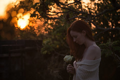 Be the energy you want to attract (emma Barnfield) Tags: sunset england sky sunlight selfportrait flower colour tree art nature rose myself outdoors photography ginger spring artist alone photographer fineart naturallight redhead hippie boho bohemian fineartphotography selflove selfie hippiechic