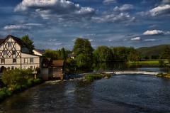 The left ... (dannicamra) Tags: sky building nature water clouds river germany landscape bayern bavaria nikon natur himmel wolken haus fluss landschaft gebude regenstauf d5100