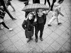 Two under an umbrella (photozalman) Tags: street shadow people blackandwhite bw woman white man black art monochrome face lines contrast shower blackwhite shot russia geometry moscow streetphotography documentary lifestyle monotone structure best human elements streetphoto moment palha sity bnw bresson bwphotography symbolism bwphoto monoart