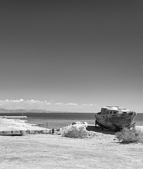 ...And The Water Will Return II (autobahn66.com) Tags: california sea lake abandoned water landscape boat desert decay surreal saltonsea