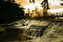 Sunset Waterfall (Costigano) Tags: bridge ireland sunset irish sun sunlight canon eos waterfall scenery dusk scenic kildare cartonhouse
