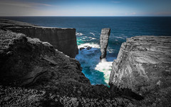 Blue (MBDGE) Tags: ocean blue sea cliff seascape green water rock canon island scotland orkney europe long exposure alba outdoor wave stack atlantic depthoffield le swell lightroom northernisles visitorkney