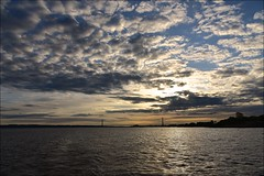 Mackerel Sky (Nanny Bean) Tags: clouds dawn tide cormorant hull owls humberbridge goole eastridingofyorkshire northlincolnshire riverhumber deepchannel floatingbuoy