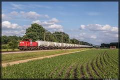 19-06-16 DBC 6516 + leeg Styreen, Zenderen (Julian de Bondt) Tags: db cargo trein dbc zenderen 6500 styreen