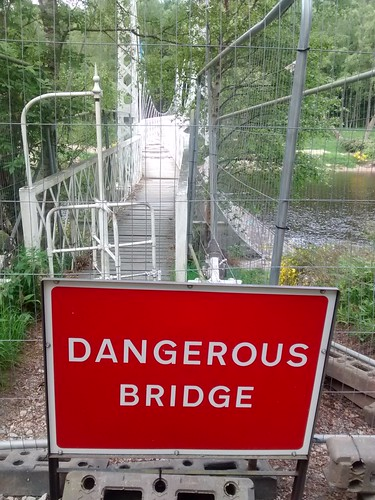 Cambus o'May suspension bridge damaged.