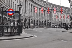 Patriotic London (gary8345) Tags: greatbritain london unitedkingdom flag regentstreet flags unionjack unionflag 2016 londonist selectivecolouring selectivecoloring snapseed