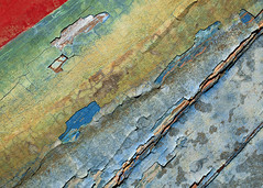 Macro Texture Study 2 (katie47n) Tags: macro boat hull peelingpaint rust texture detail abstract wood old wickford ri color weathered worn shipyard boatyard
