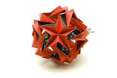 Star Track (Akizhi) Tags: art paper origami decoration craft modular kusudama