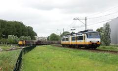 Alphen a/d Rijn met sprinter en 6400 (Ahrend01) Tags: db cargo serie electrolux sprinter 6400 sgm alphen buurtgoederentrein