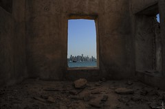 The contrast of old and modern- Qatar (zai Qtr) Tags: new old sea abandoned composite buildings nikon outdoor decay indoor corniche qatar dafna qatar2022 zaiqtr