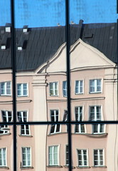 The Crooked House (Alan1954) Tags: house building window reflections europe poland warsaw holidat 2013