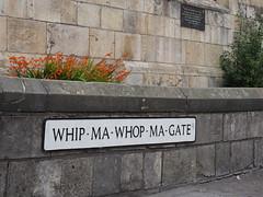 Whip-Ma-Whop-Ma-Gate (Megashorts) Tags: street york city uk england sign name yorkshire olympus pro f28 omd whipmawhopmagate em10 mzd 1240mm