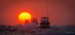 sunrise heading out to the Gulf Stream (cjstafford) Tags: sunrise nc fishing village hatteras outer banks