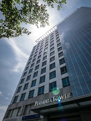 Perwata Tower (Henry Sudarman) Tags: building tower architecture lumix officebuilding panasonic jakarta officetower gedung pluit arsitektur gm1 mirrorless perkantoran perwata perwatatower