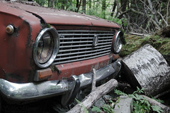 Long forgotten (Stle Meyer) Tags: abandoned lada car vehicle woods old lost norge norway akershus exploration nikon road travel transportation