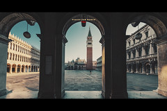 Piazza San Marco - Venice (pRaTuL rAgHaV) Tags: morning venice winter vacation italy holiday beautiful weather st sunrise square san europe awesome marks marco piazza nikkor f28 ultrawideangle gandolas vsco 1424mm nikond800 vscofilm vscocam