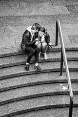 Stairtop Hysterics.jpg (Pauls-Pictures) Tags: camera city people urban blackandwhite monochrome stairs laughing lens photography fuji candid sydney australian photographers australia fujifilm laughter standard streetphotos hysteria compactcamera hysterics streetphotographer streetpics twoscompany streetphotograhy achromatic xt1 streetpictures fxlens mirrorlesscamera australianstreetphotographers 35nmf14lens