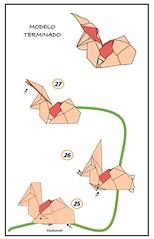 Diagramas conejo (mrmicawer) Tags: papiroflexia origami papel conejo rabbit billete euro bill